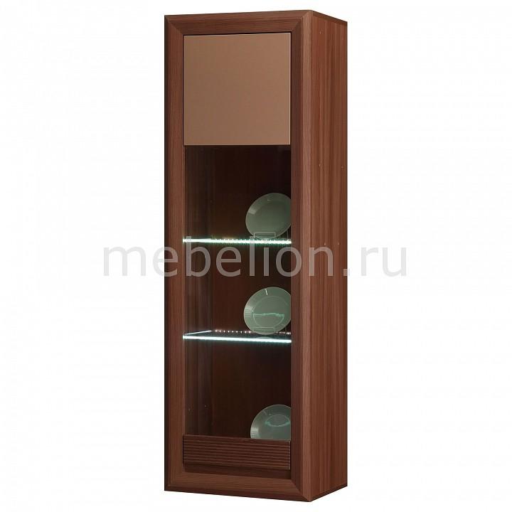 Шкаф-витрина Камелия-13 ясень шимо темный/капучино