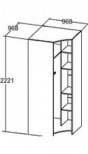 Шкаф платяной Кливия 641280.000