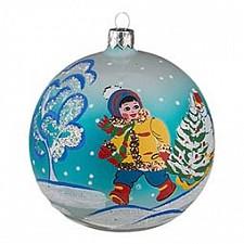 Елочный шар АРТИ-М (9 см) Снежок 860-444
