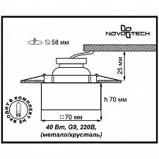 Встраиваемый светильник Novotech 369425 Cubic