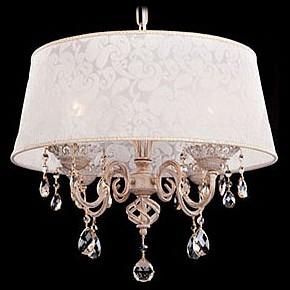 Купить Подвесной светильник 10008/4 белый с золотом/тонированный хрусталь Strotskis, Eurosvet, Китай