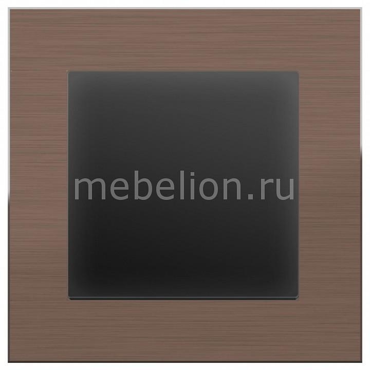 Выключатель проходной одноклавишный Werkel без рамки Aluminium (Черный матовый) WL08-SW-1G-2W-LED+WL08-SW-1G-2W цены