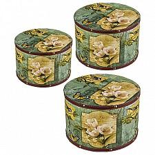 Шкатулка декоративная АРТИ-М Набор из 3 шкатулок декоративных Цветы и птицы 706-203