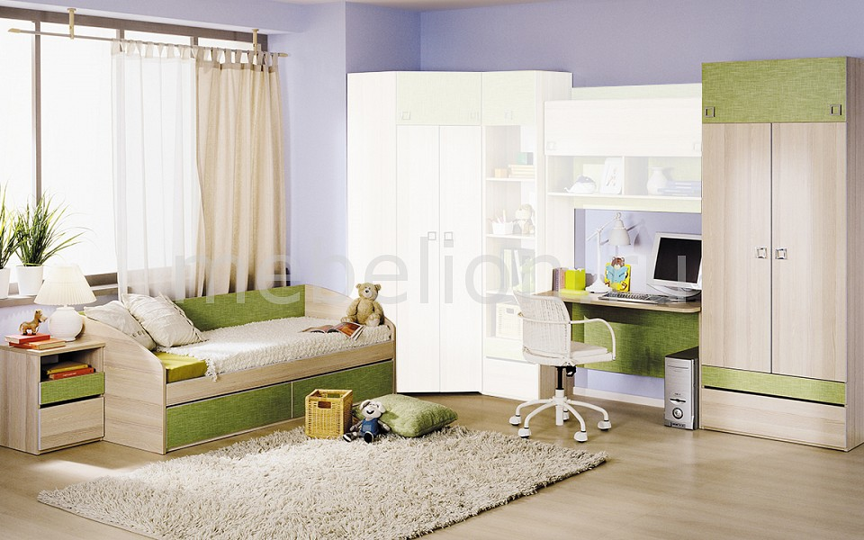 Набор для детской Мебель Трия Гарнитур для детской Киви ГН-139.001 ясень коимбра/панареа