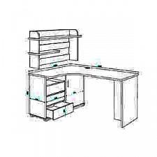 Стол компьютерный Домино СР-165