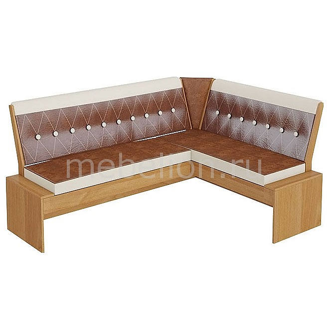 Уголок кухонный Мебель Трия Диван Кантри Т1 исп.1 ольха/коричневый