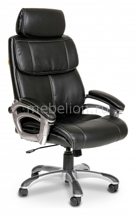 Кресло для руководителя Chairman 433 черный/серый, черный  тумбочка минске цены