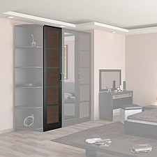 Шкаф для белья Токио СМ-131.07.001 венге цаво/венге цаво/каналы дуба