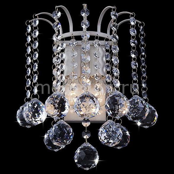 Накладной светильник 3299/2 белый с золотом/прозрачный хрусталь Strotskis