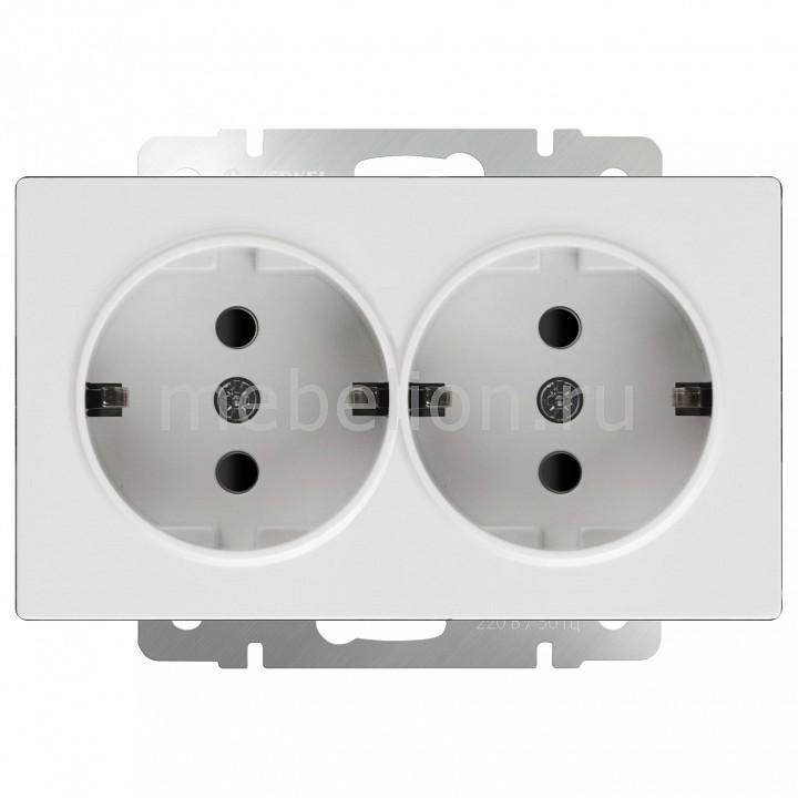 Купить Розетка двойная с заземлением без рамки Белый WL01-SKG-02-IP20, Werkel, Швеция