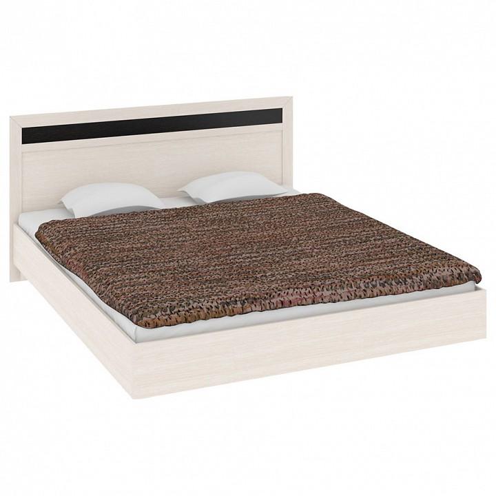 Кровать двуспальная Мебель Трия Токио СМ-131.12.001 дуб белфорт/дуб белфорт/венге цаво