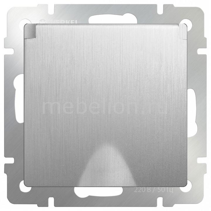 все цены на Розетка влагозащищенна с заземлением с крышкой со шторками Werkel , без рамки Серебряный рифленый WL09-SKGSC-01-IP44 онлайн