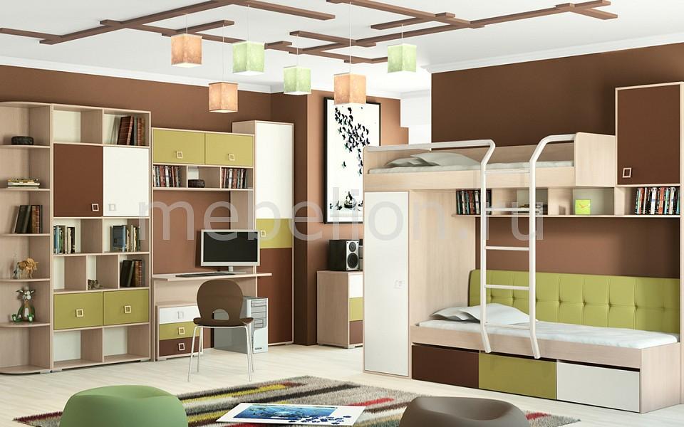 Набор для детской Мебель Трия Гарнитур для детской Тетрис ГН-154.009 ясень белладжио/молочный/оливковый/шоколадный мебель трия тетрис гн 154 003