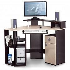 Олимп-мебель Стол компьютерный Костер-7 5210-00 венге/клен светлый