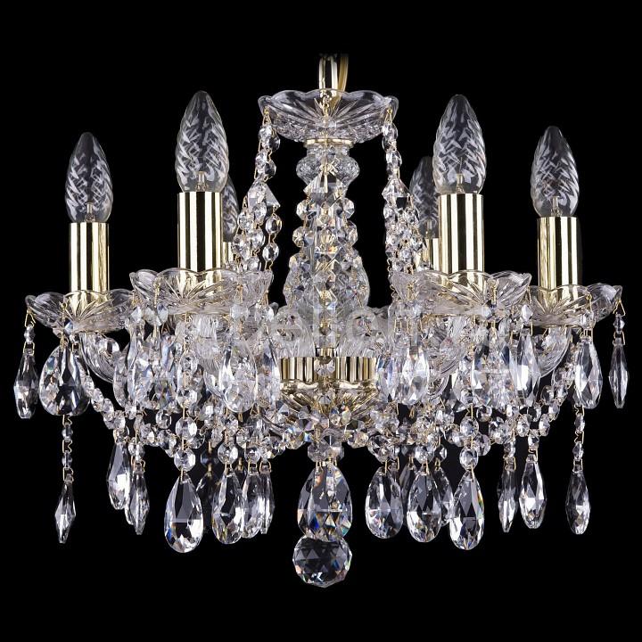 Подвесная люстра Bohemia Ivele Crystal 1413/6/141/G 1413