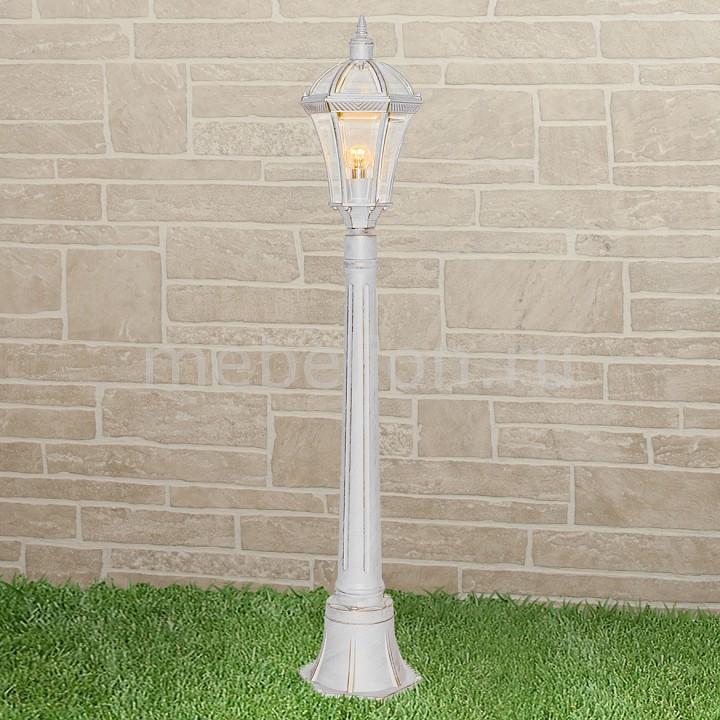 Наземный высокий светильник Elektrostandard Capella F белое золото фонарный столб elektrostandard capella f 3 белое золото