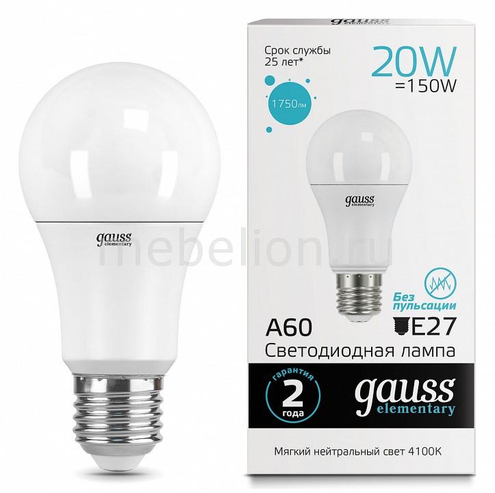 Лампа светодиодная Gauss 232 E27 180-240В 20Вт 4100K 23229