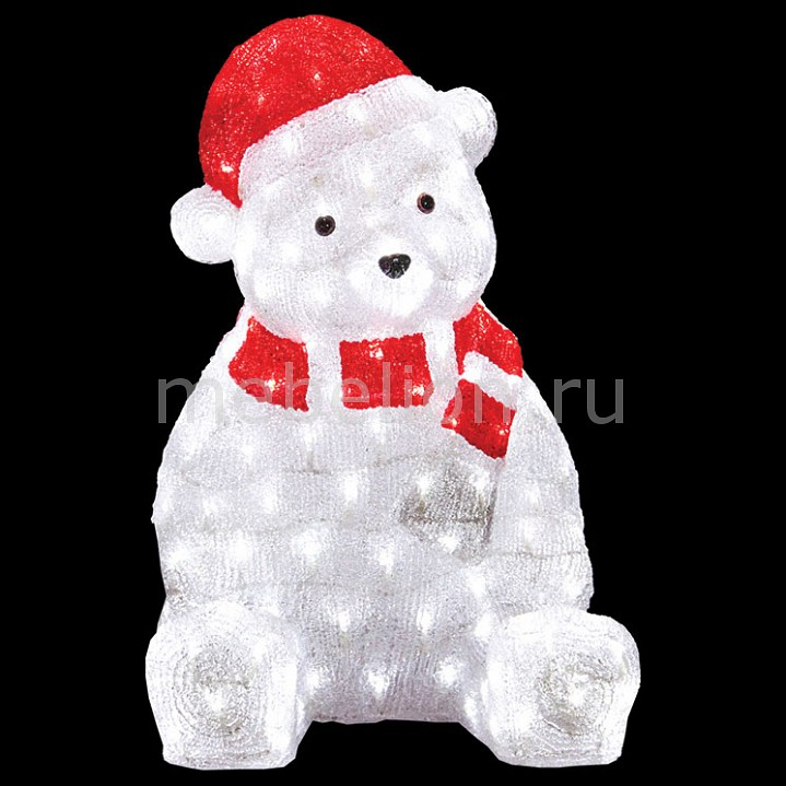 Зверь световой Неон-Найт (56 см) Медвежонок в красном колпаке 513-240 неон найт 6x2 м led plrs 75 20 235 165
