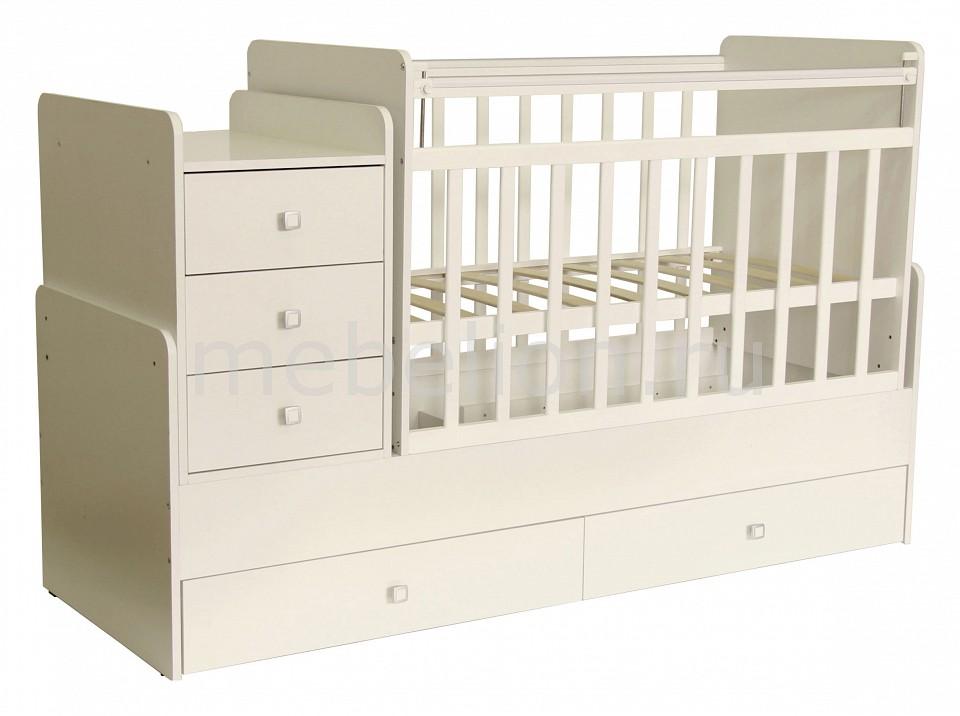 Кроватка-трансформер Фея 1100  купить б у двухъярусная диван кровать