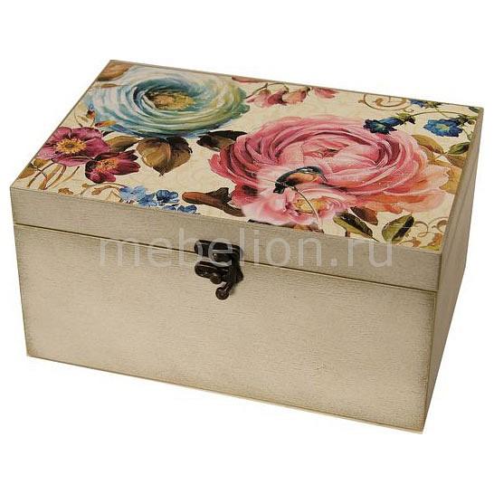 Шкатулка декоративная (26х18х11.5 см) Цветы 1725-13W