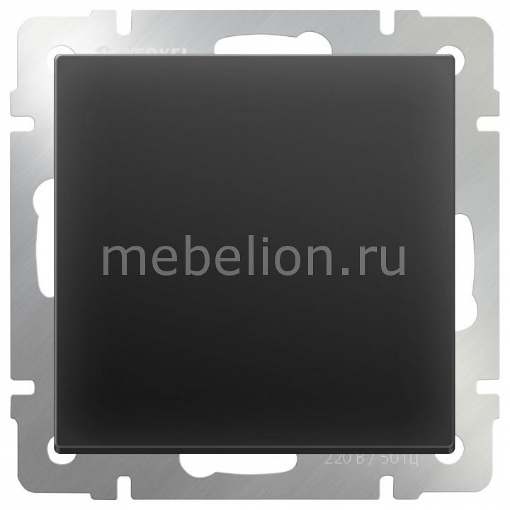 Выключатель проходной одноклавишный без рамки Werkel Черный матовый WL08-SW-1G-2W выключатель проходной одноклавишный werkel без рамки aluminium черный матовый wl08 sw 1g 2w led wl08 sw 1g 2w