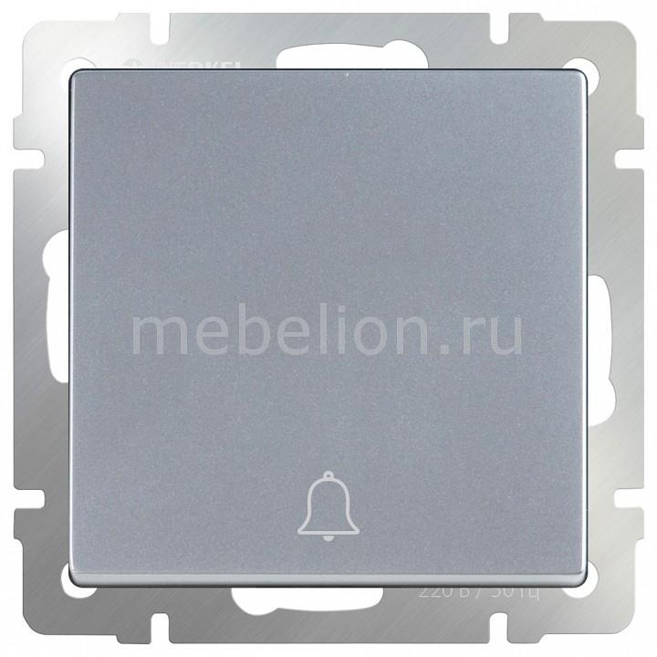 Кнопка звонка без рамки Werkel Серебряный WL06-04-01 chkj серебряный 42 мм