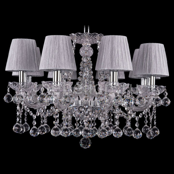 Подвесная люстра Bohemia Ivele Crystal 1413/8/200/Ni/Balls/SH6 bohemia ivele crystal 1413 8 200 ni balls