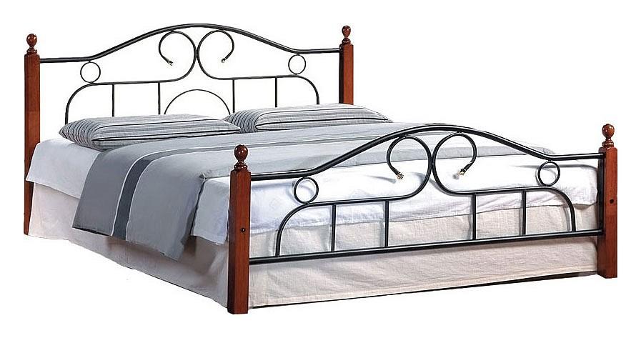 Кровать двуспальная 808 1.8 красное дерево/черный