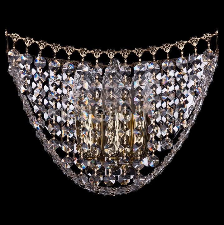 Накладной светильник Bohemia Ivele Crystal 7708/3/W/G 7708