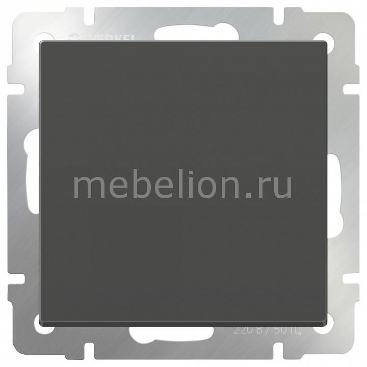 Выключатель одноклавишный без рамки Серо-коричневый WL07-SW-1G