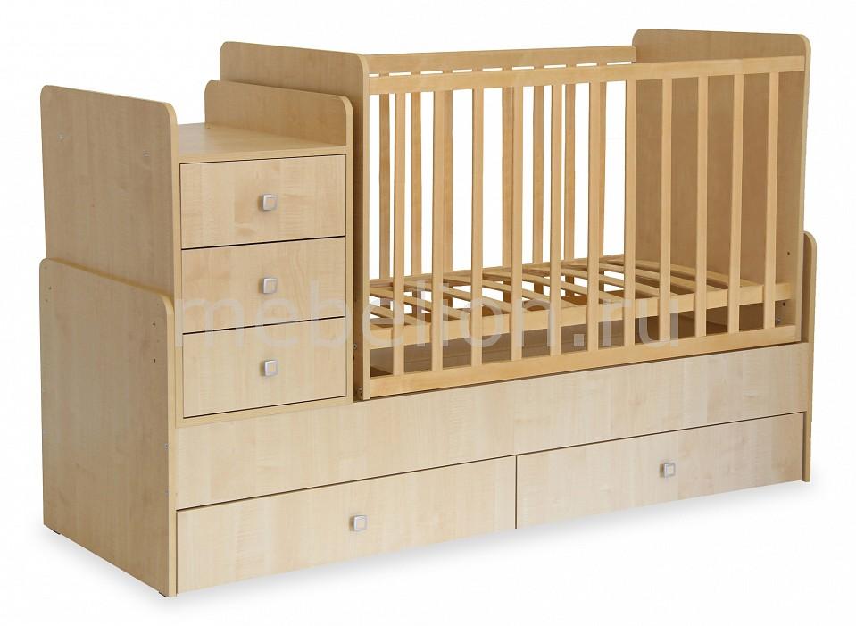 Кроватка-трансформер Polini Simple 1100  диван пуфик фото