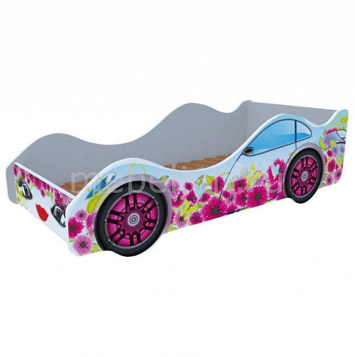 Кровать-машина Цветочный рай M053