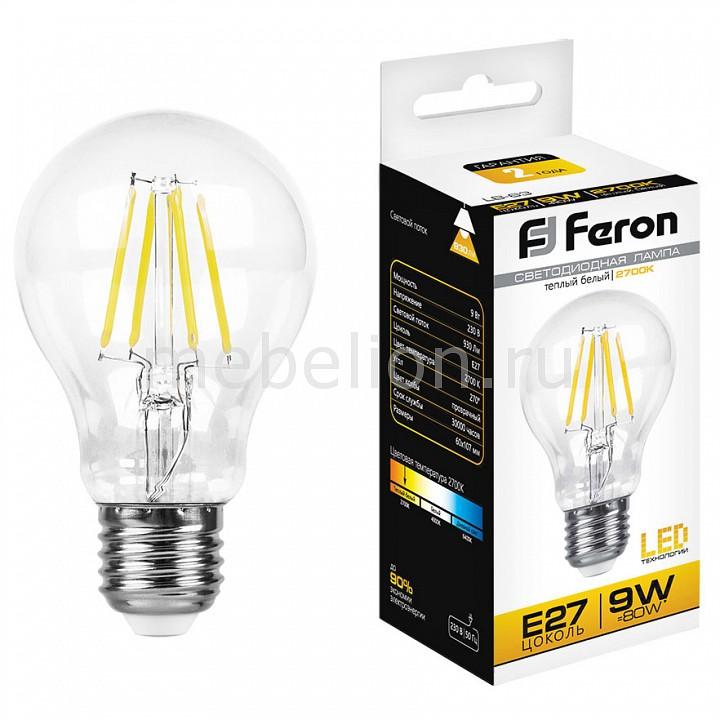 Лампа светодиодная Feron LB-63 E27 9Вт 230В 2700 K 25631 лампа светодиодная feron sbg4509 e27 9вт 220в 2700 k 55082