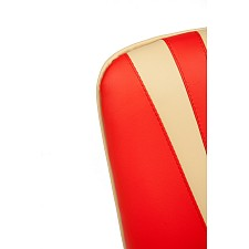 Кресло компьютерное Spectrum красный/бежевый