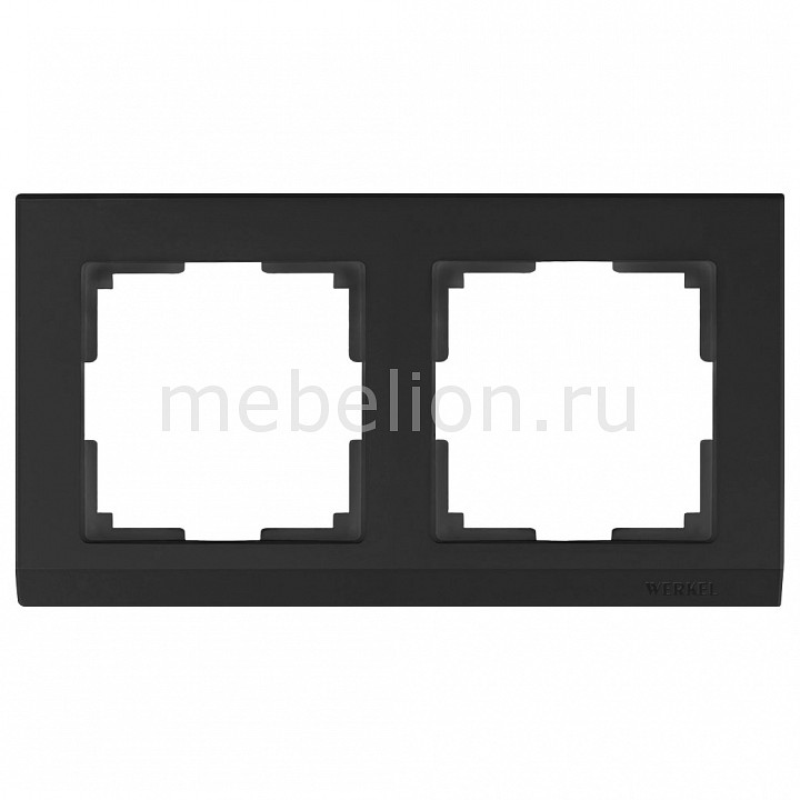 Рамка на 2 поста Werkel Stark WL04-Frame-02-black stark s103 black