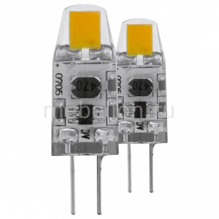 Комплект из 2 ламп светодиодных [поставляется по 10 штук] Eglo Комплект из 2 ламп светодиодных Led лампы G4 2700K 220-240В 1,2Вт 11551 [поставляется по 10 штук] комплект из 2 ламп светодиодных eglo led лампы g4 2700k 220 240в 1 2вт 11551