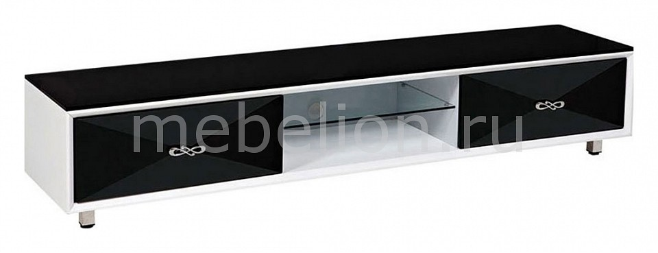 Тумба для ТВ Napoli V9006 черно-белый mebelion.ru 34580.000