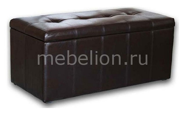 Банкетка-сундук Dreambag Лонг коричневая пуф dreambag лонг коричневая кожа