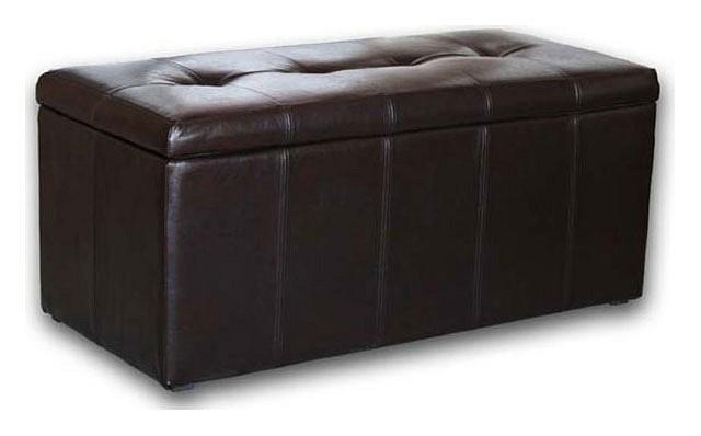 Банкетка-сундук Dreambag Лонг коричневая пуф dreambag модерна коричневая кожа