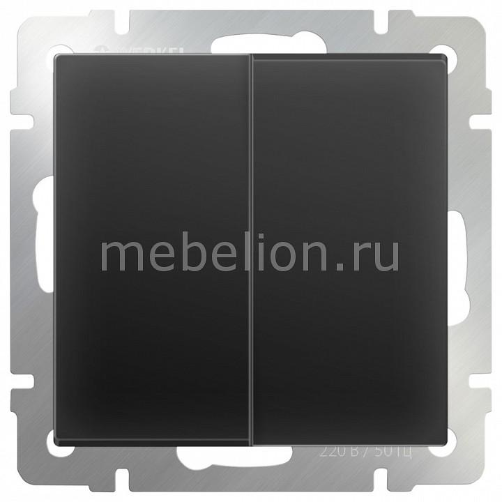 Выключатель проходной двухклавишный без рамки Werkel Черный матовый WL08-SW-2G-2W бра colosseo susanna 80311 2w