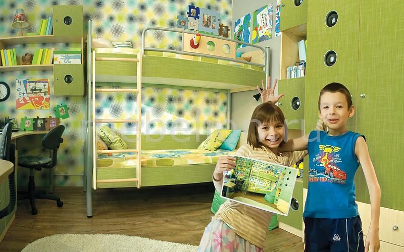 Гарнитур для детской Полосатый рейс клен/текстиль