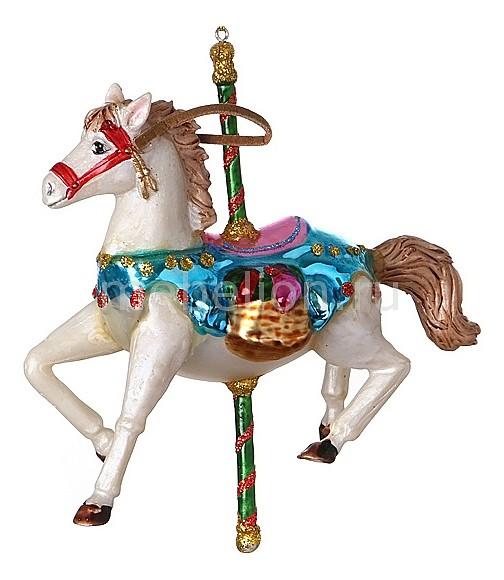 Елочная игрушка (13 см) Лошадка 785-017