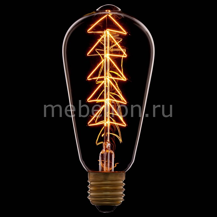 Лампа накаливания Sun Lumen ST64 E27 240В 40Вт 2200K 053-532