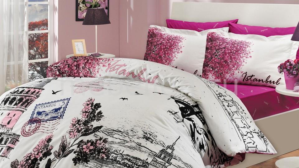 Комплект полутораспальный HOBBY Home Collection ISTANBUL PANAROMA комплект постельного белья hobby home collection 1 5 сп поплин istanbul panaroma фиолетовый 1501000109