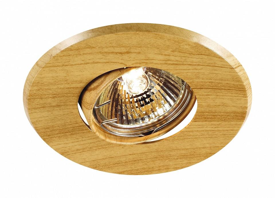 Встраиваемый светильник Novotech Wood 369709 aqwella papyrus wood светлое дерево