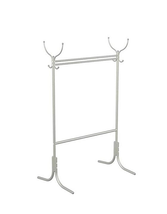 Вешалка напольная Мебелик Вешалка гардеробная М-13 металлик цена и фото