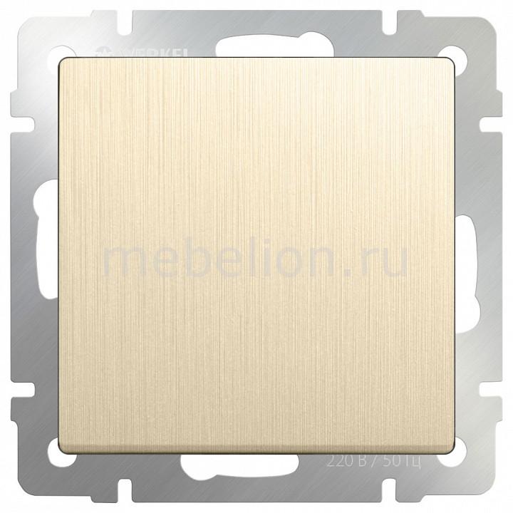 Выключатель проходной одноклавишный без рамки Werkel Шампань рифленый WL10-SW-1G-2W бра colosseo susanna 80311 2w