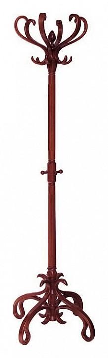 купить Вешалка напольная Мебелик Вешалка-стойка В-4Н махагон по цене 8367 рублей