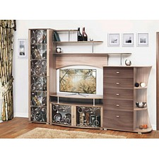 Стенка для гостиной Олимп-мебель Олимп-М15 ясень шимо темный/ясень шимо светлый