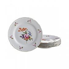 Набор из 6 тарелок плоских Майсеновский букет 655-148